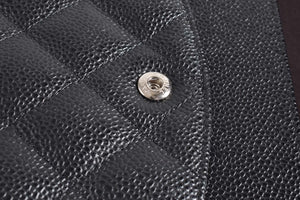 Chanel Black Quilted Caviar Leather Classic Maxi Double Flap Bag SHW