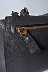Salvatore Ferragamo Black Leather Medium Sofia Satchel Bag