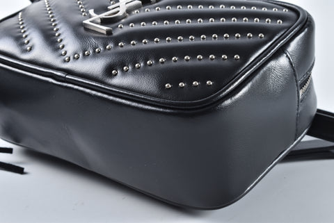 Saint Laurent Studded Black Belt Bag