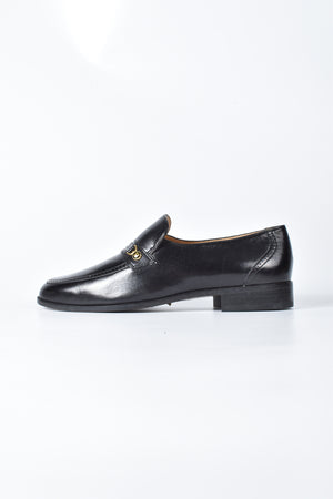 Bally Women's Black Leather Loafers