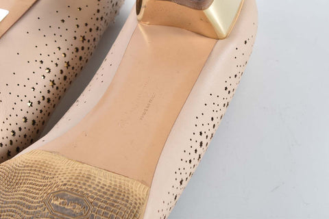 Salvatore Ferragamo Vara Low-heel Beige Pumps