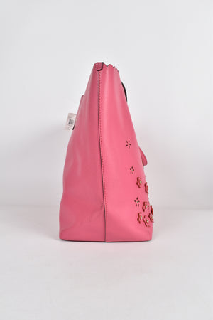 Coach Floral Aplique Tote in Pink