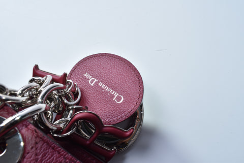 Dior Ultra Medium Chain Rouge Calfskin Leather Shoulder Bag 01-RU-0166