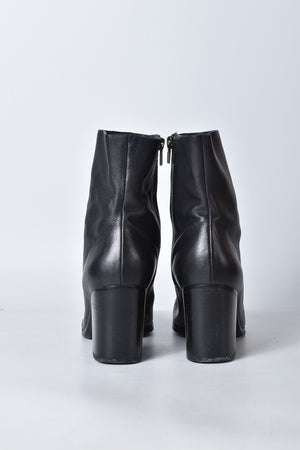 Alexander Wang Black Leather Zipped Boots