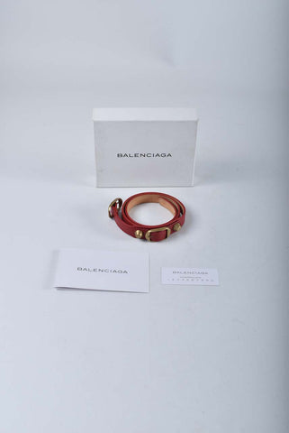 Balenciaga Red Poppy Triple Tour Bracelet