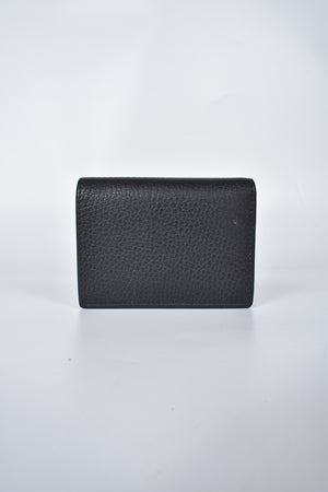 Gucci GG Marmont Grained-Leather Wallet in Black