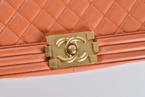 Chanel Boy Old Medium Orange GHW 20431874