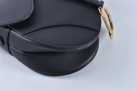 Dior Black Medium Saddle Bag N0446CWVG N900