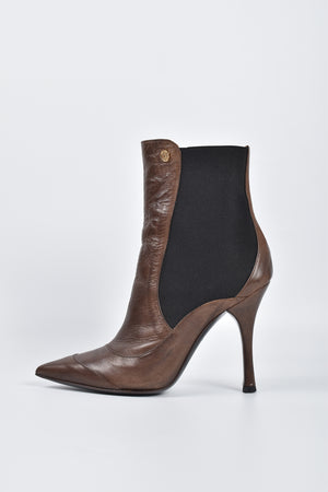 Just Cavalli Brown Leather Tronchetto