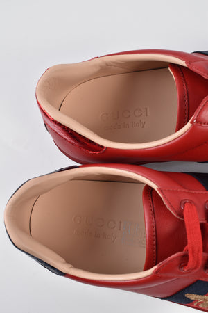 Gucci 429446 Red Ace Sneakers