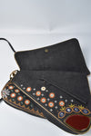 Christian Dior Vintage Denim Cadillac Multicolour Crossbody Bag