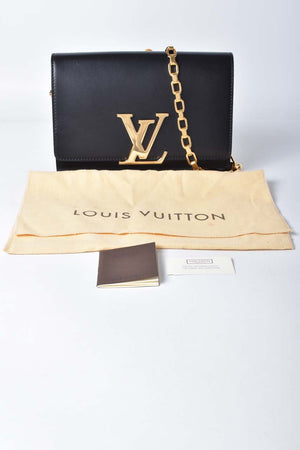 Louis Vuitton Black Leather Noe Sobe Cuir Chaine MM Bag