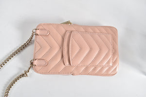 Kate Spade Lambskin Flapper Pink Amelia North South Phone Crossbody Bag