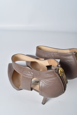 Jimmy Choo Erica Nappa Leather Mink Heels Tacco 100