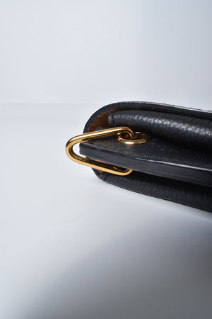 MCM Black Leather Crossbody Bag
