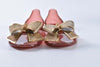 Salvatore Ferragamo Barbados PVC Flats in Dark Orange / Gold