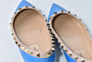 Valentino Stud in Blue Fluo - Size 35 1/2