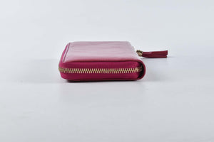 Gucci Pink Soho Zip Around Wallet Patent Leather