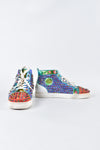 Christian Louboutin Louis Orlato Flat VV/Nap T and Multicolour Multi Metal Mens Sneakers