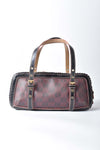 Loewe Purple / Black Monogram PVC and Patent Leather Satchel