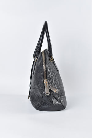 Burberry Orchard Bowling Grained Leather in Black