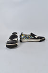 Fendi Men Monster Bug Eye Black Leather/Multi Spiked Loafers