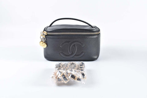 Chanel Square Vanity Case Caviar (195)