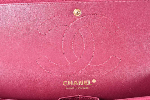 Chanel 2.55 Reissue 226 Double Flap Jersey Bag in Fuchsia GHW 17194608