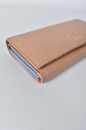 Gucci Beige and Light Blue Swing Continental Wallet