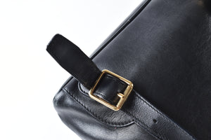 Gucci Vintage Bamboo Black Leather Mini Backpack