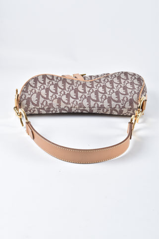 Christian Dior Monogram Saddle Bag in Nude/Brown RU 1001