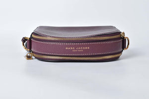 Marc Jacobs Camera Small Shutter Cognac Leather Cross Body Bag in Red