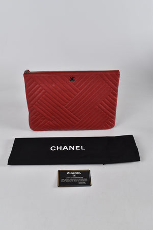 Chanel Ocase in Red Calf Leather