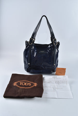 Tod's G-Line Easy Sacca Media In Navy