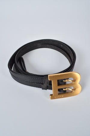 Bally Womens Black Leather Belt