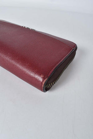 Coach Accordion Burgundy Leather Wallet