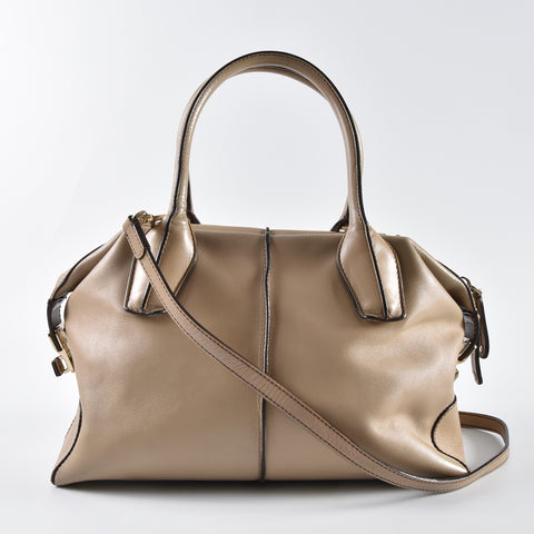 71957123136f Tod s Light Tan Leather D-Styling Tote Bag