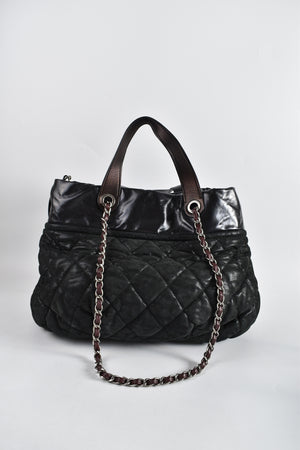 Chanel Black Quilted Iridescent Calfskin Leather In-the-Mix Large Tote Bag 17772880