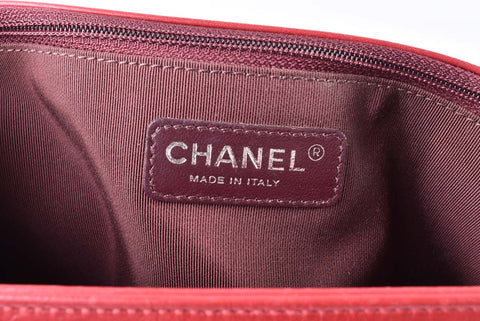 Chanel A92798 Mix Quilted Red Aged Calf Leather Seasonal Flap Bag RHW 21101000