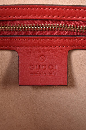 Gucci Beige/Blue/Red GG Coated Canvas Supreme Top Handle Medium Boston Bag