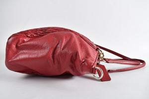 Coach F37082 Kelsey Satchel in Twisted Gathered Leather in Red