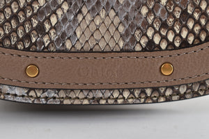 Chloe Small Nile Bracelet Bag in Python Skin GHW