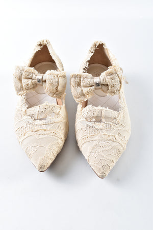 Chanel Beige Lace Ballerines