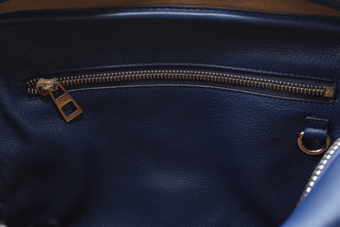 Loewe Amazona 75 Medium Satchel in Marine