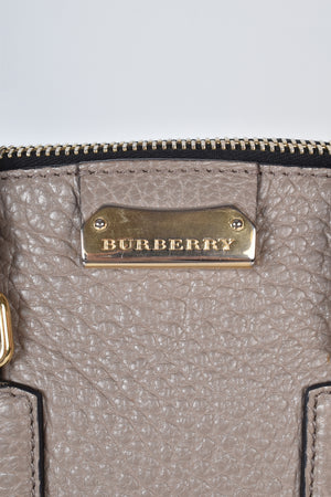 Burberry Orchard Medium Buffalo Leather Satchel in Grey