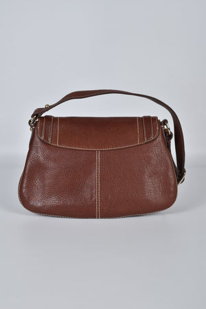 Burberry Brown Calfskin Shoulder Bag