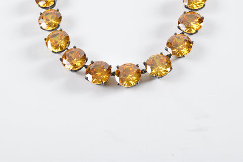 Bottega Veneta Collana Naturale Yellow Cubic Zircon Necklace 228209 VL901 7005 - Glampot