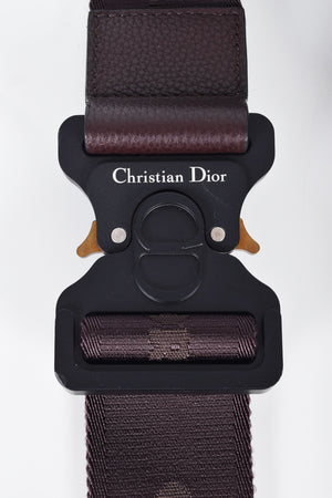 Dior Men's Homme Saddle Bag in Dark Brown Grained Calfskin