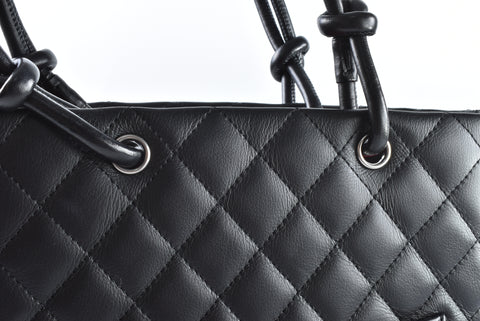 Chanel Cambon Tote in Black Size S - Glampot