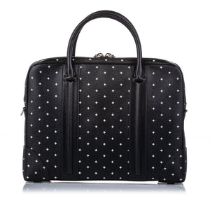 Givenchy Black Printed Leather Briefcase